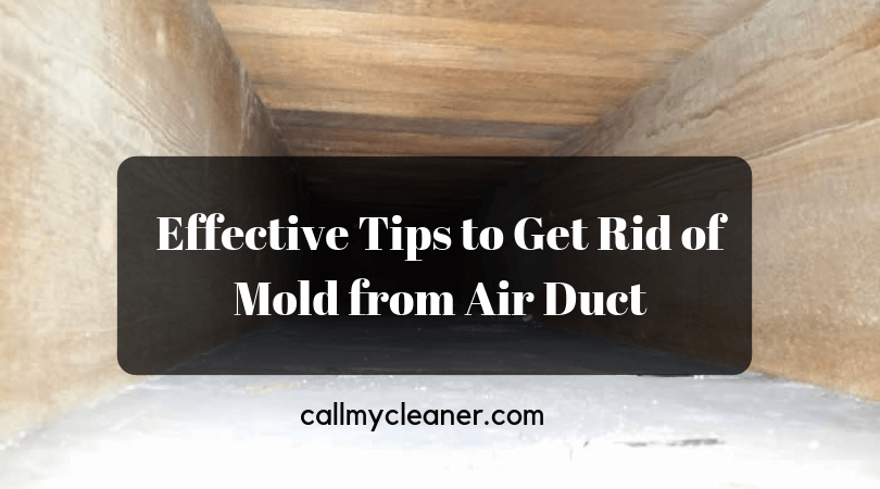 Effective Tips to Get Rid of Mold from Air Duct Nowadays