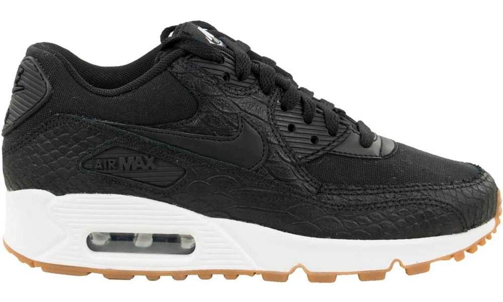 big sale 1edec 305a8 nike-air-max-90-premium-zwart-dames-sneakers