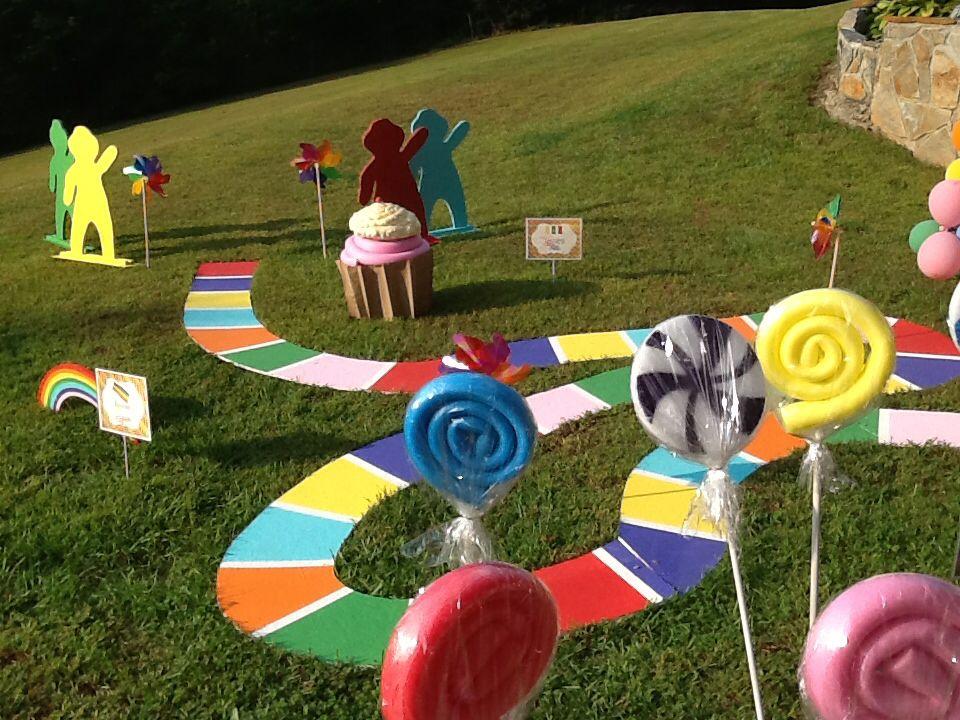 Candyland Party Decorations Diy Outside candyla...