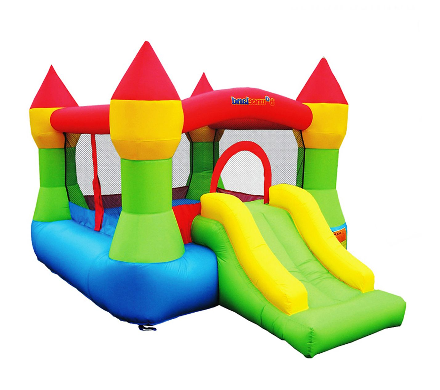 Bounce House - Castle Bounce N' Slide w/hoop The Castle Bounce N' Slide has  everything a young princess or prince could want- bright, attractive  colors, ...