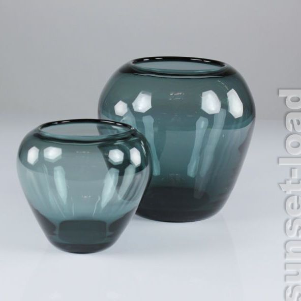 Glas Vasen WMF Wilhelm Wagenfeld Turmalin 50er 60er Jahre 2x alte Vase, vintage de.picclick.com