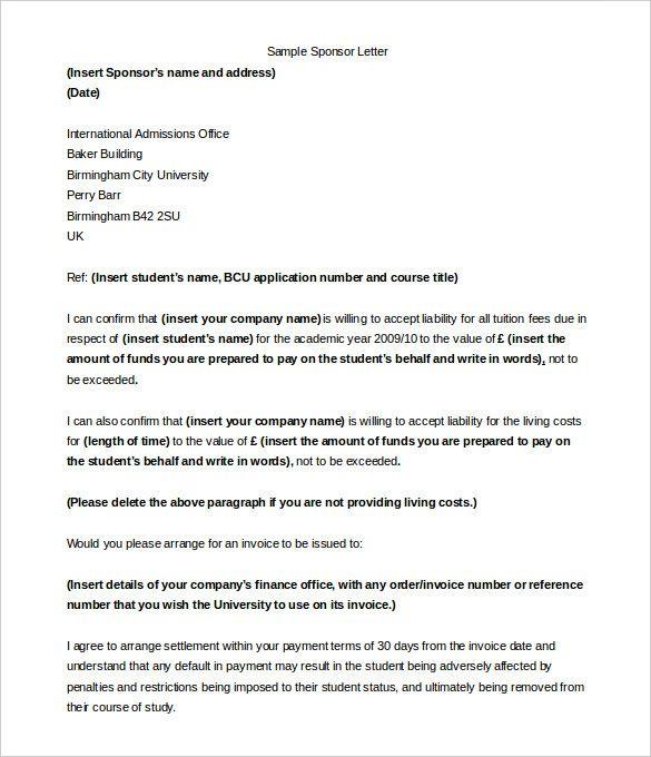 sponsorship letter templates free sample example format run sheet - example sponsor letter