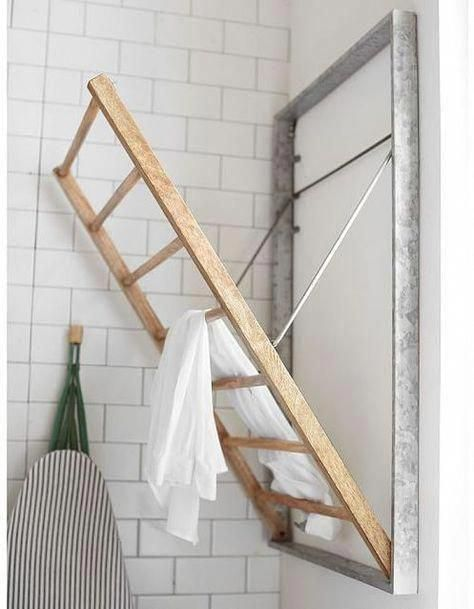 Galvanized Wall-Mount Laundry Drying Rack