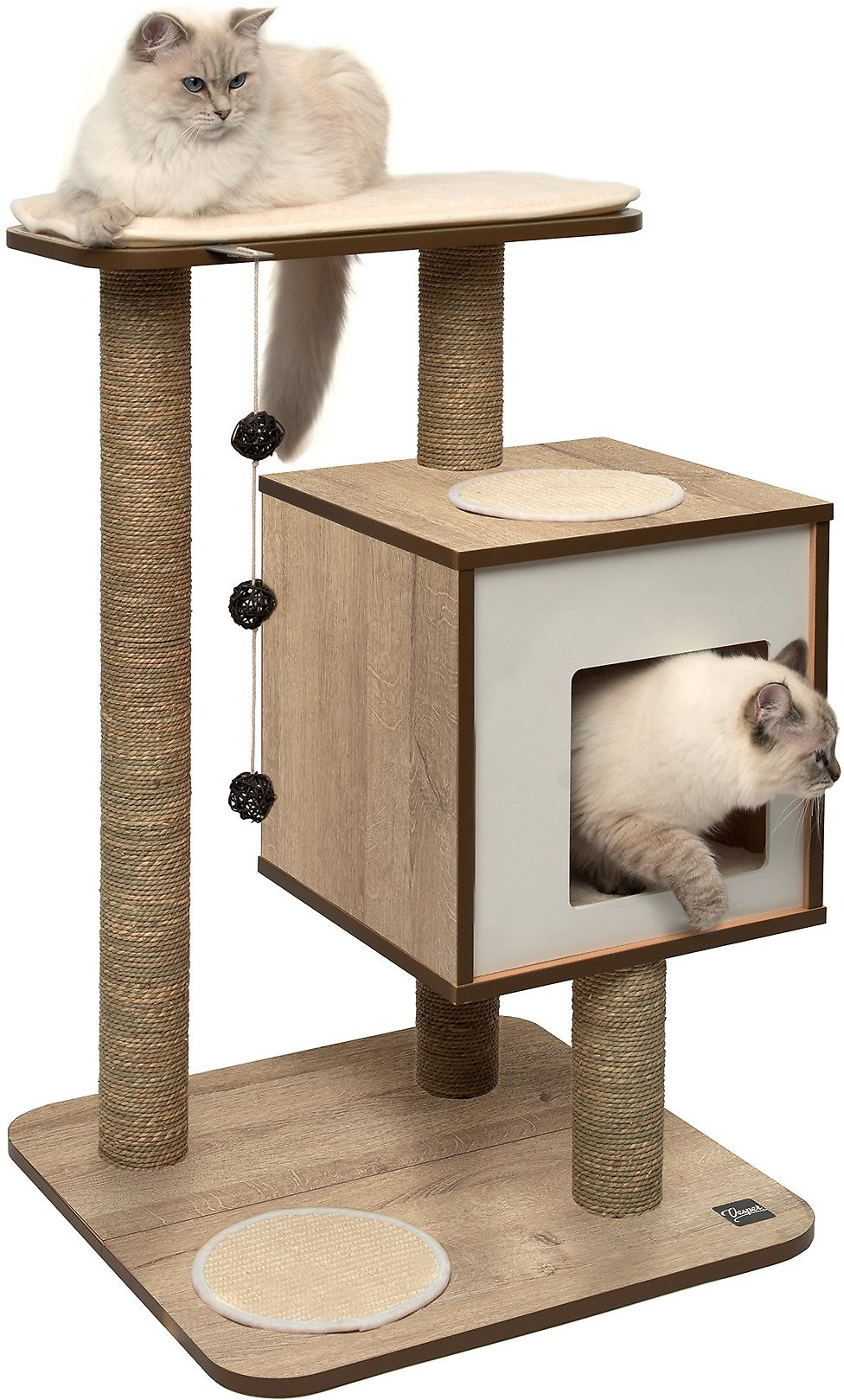 Vesper Base 32 In Modern Cat Tree Condo Walnut Chewy Com In 2020 Modern Cat Tree Cat Tree Modern Cat