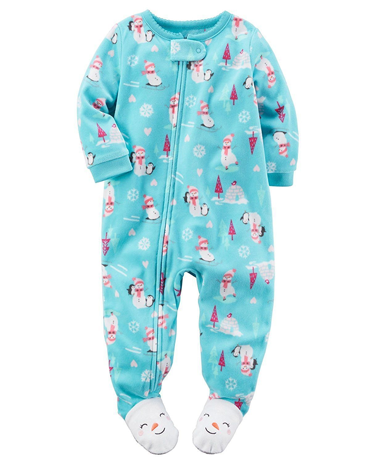 5571dda8e Carters Baby Girls Size  24 Months 1-Piece Footed Fleece Pajamas ...