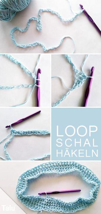 Photo of Loop-Schal häkeln – kostenlose DIY-Anleitung für Anfänger – Häkeln –       c…