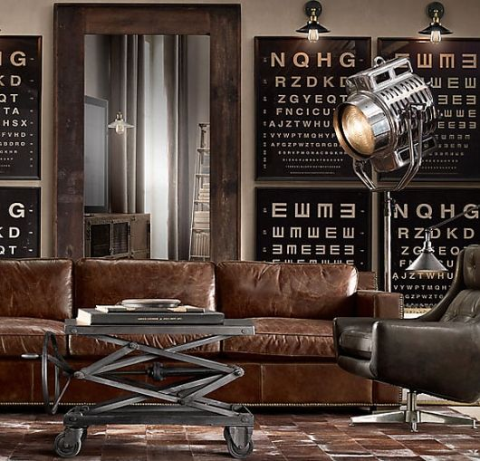A very masculine living room Interior Design for Men Pinterest