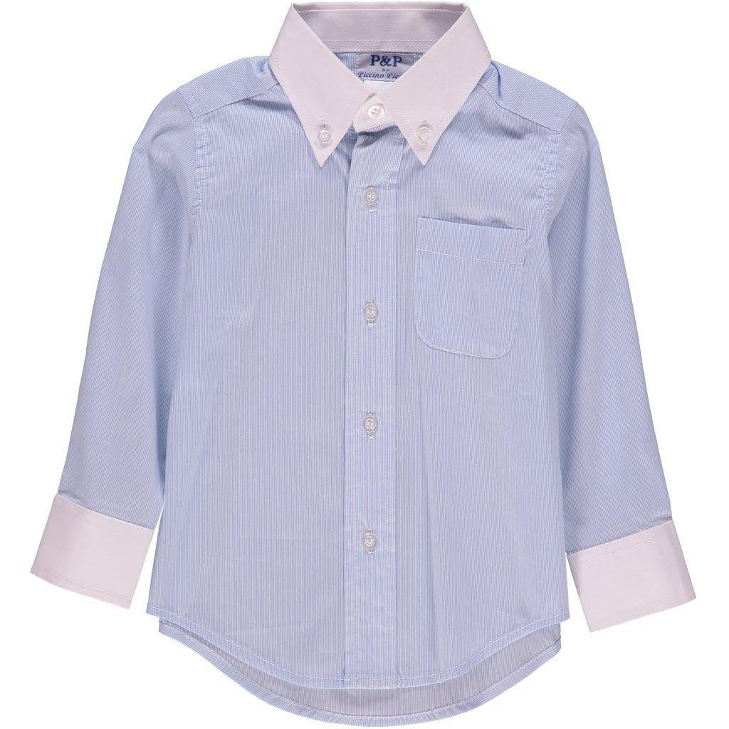 fd202a58f1507 Baby Boy Spring Long Sleeve - Classic Blue White Stripe Dress Shirt - 3  Years - C912GQUIFGF - Boys' Clothing, Button-Down & Dress Shirts, Dress  Shirts ...