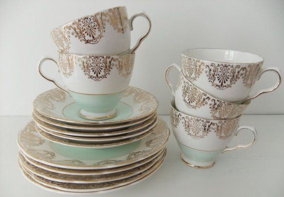 I'm loving mint green china at the moment! #vintage