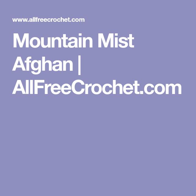Mountain Mist Afghan