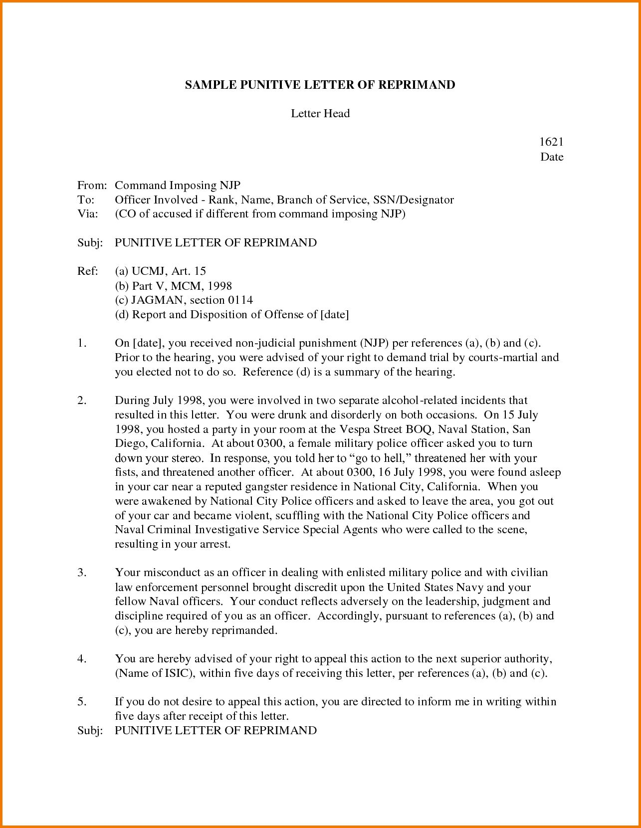 Written Reprimand Template Colona Rsd7 Throughout Letter Of