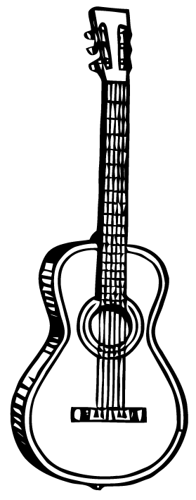 Guitar Icon Photo By Sdvl09 Photobucket Music Stickers Silhouette Stencil Guitar