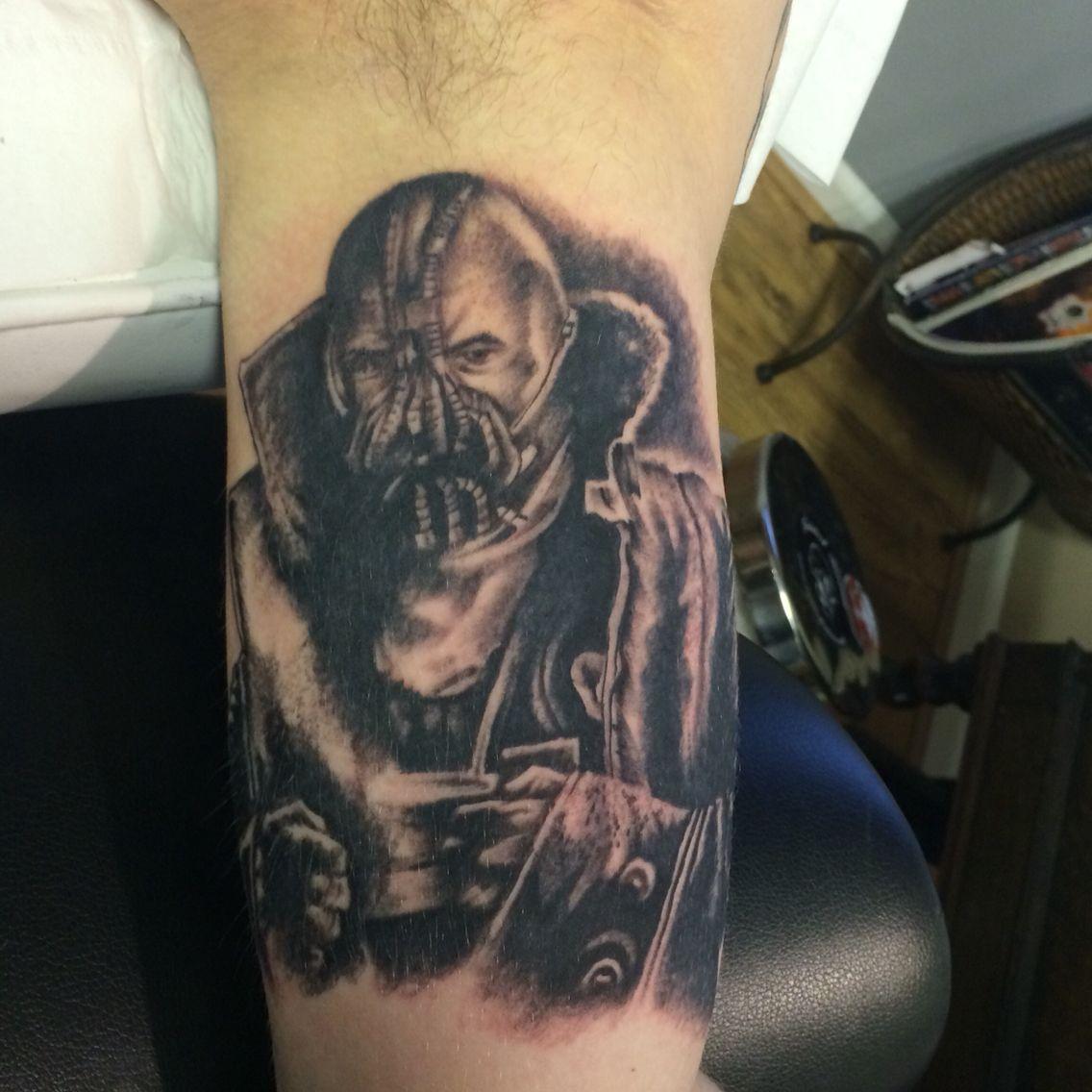 Bane tattoo by Travis Allen Www.twistedtattoo.co.uk | Grey