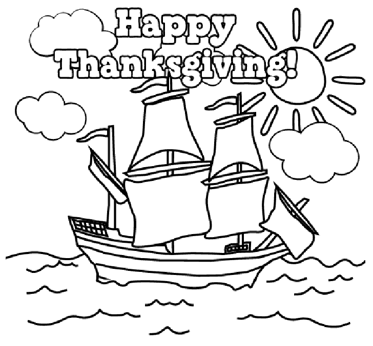 Happy Thanksgiving Coloring Pages Printables Picture 7 Color