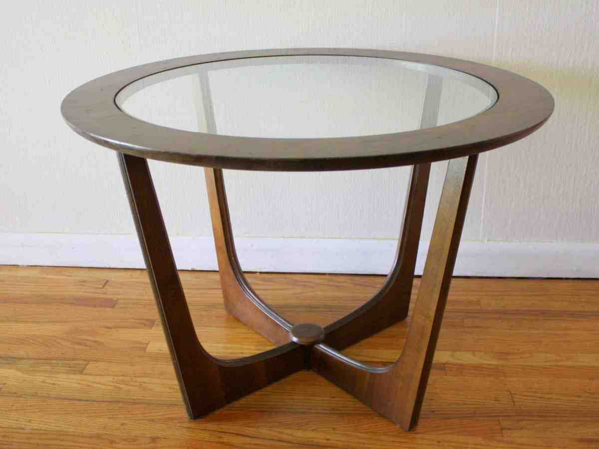 Round Wooden Side Table Glass Top End Tables Glass End Tables Round End Tables