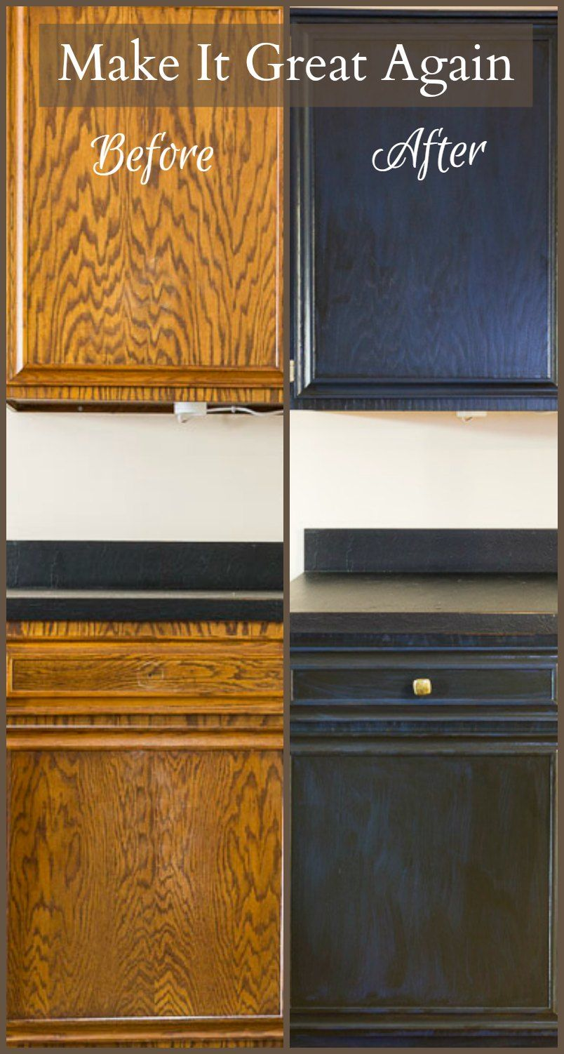 Make It Great Again Painting Oak Cabinets Painting Oak Cabinets