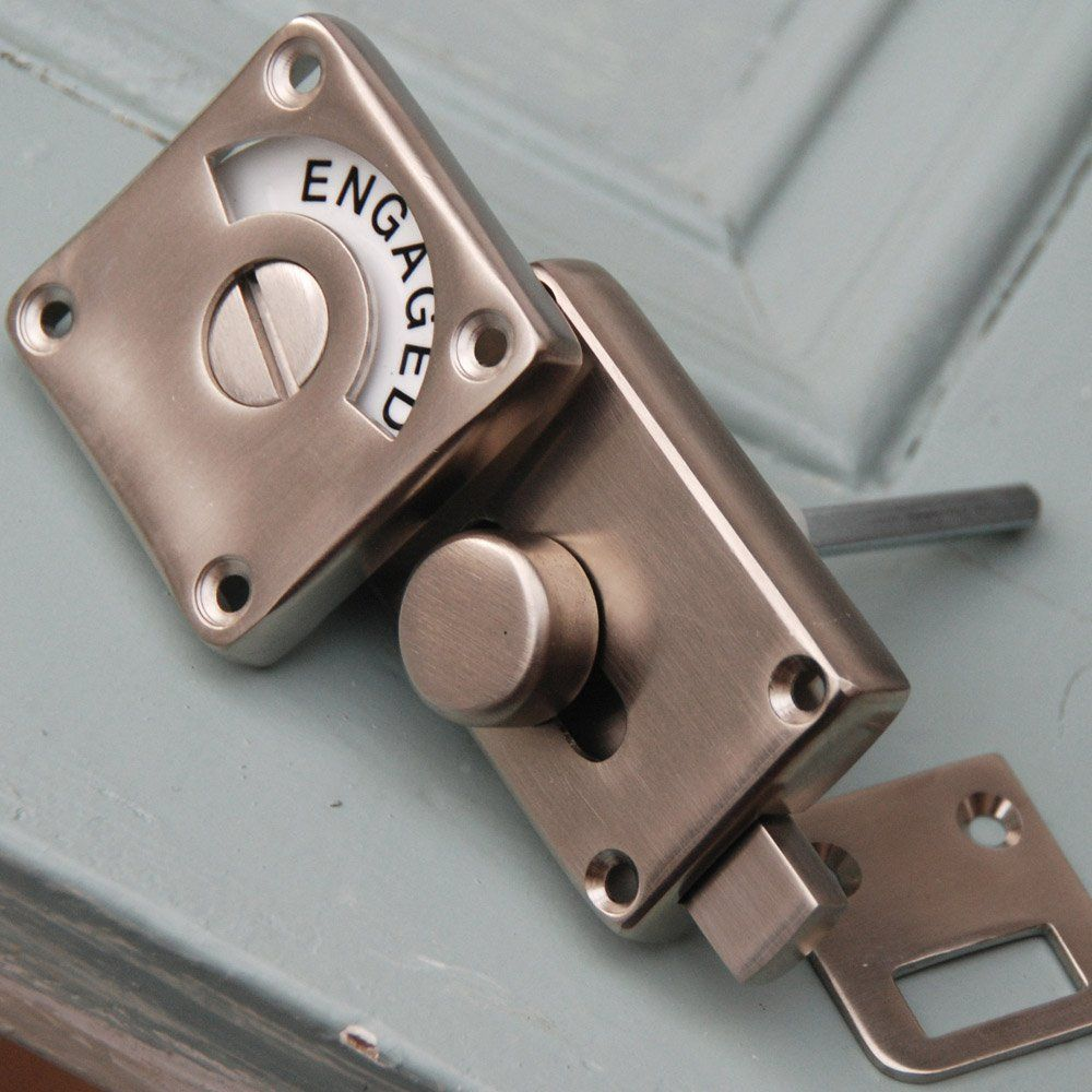 Satin Nickel Vacant Engaged Lock 21ferns Bathroom Redo