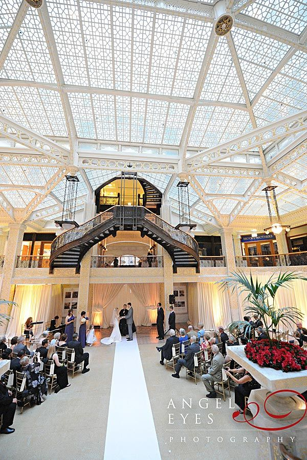 Wedding At The Rookery Chicago Skylight Redesigned By Frank Lloyd Wright 1905