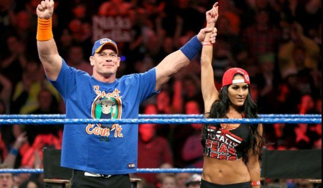 nikki bella comments on her smackdown kiss with john cena