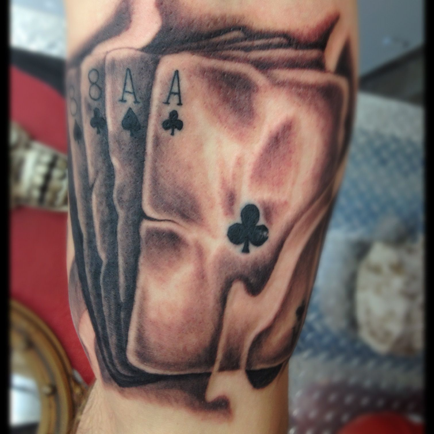 Route 66 tattoo picture at checkoutmyink com - Dead Mans Hand Tattoo