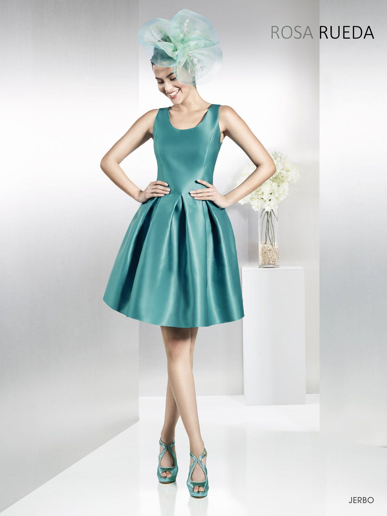 Vestido modelo 18215A de Ana Torres. Elegante vestido