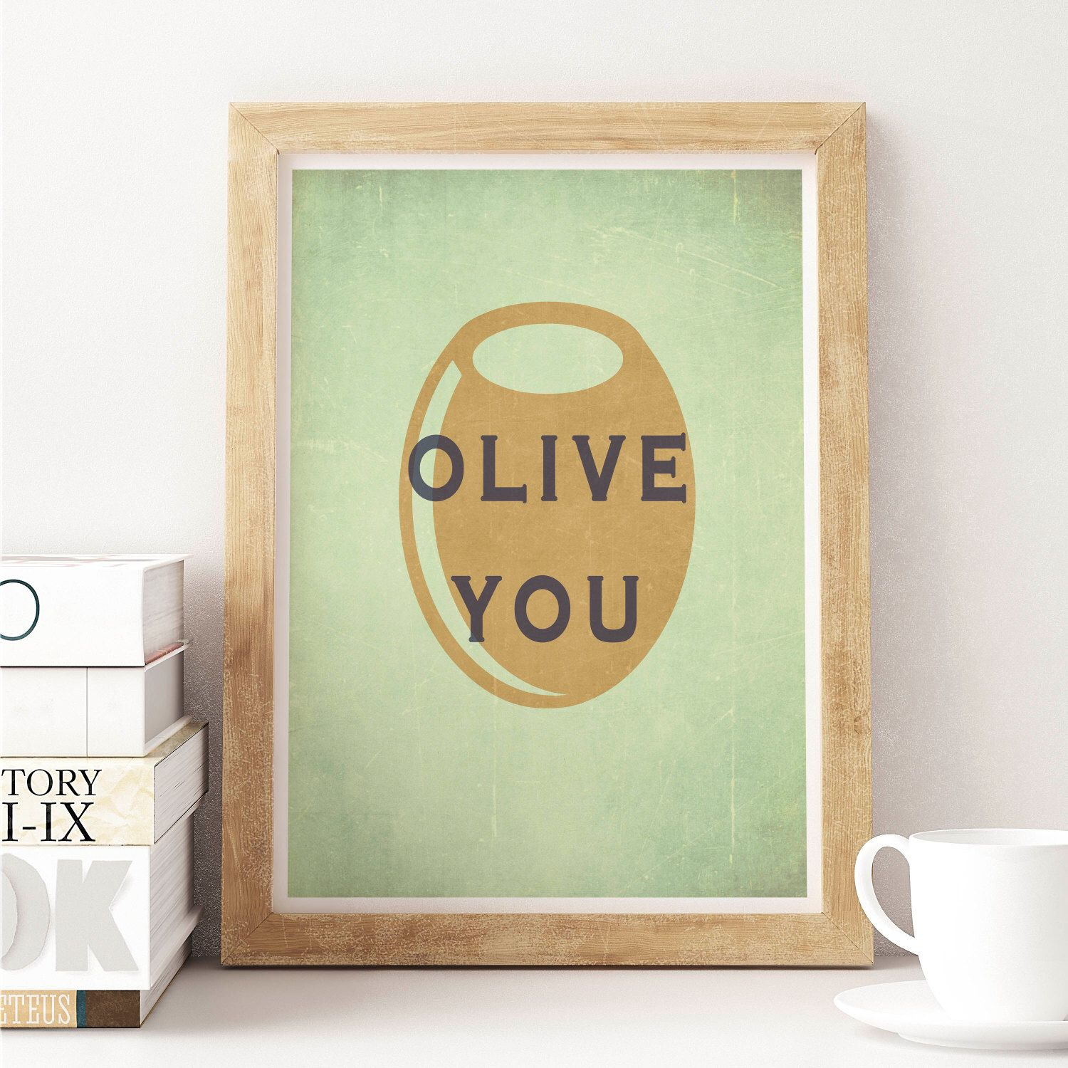 Kitchen Wall Hanging Olive You Print Kitchen Wall Art Bar Decor Kitchen Decor