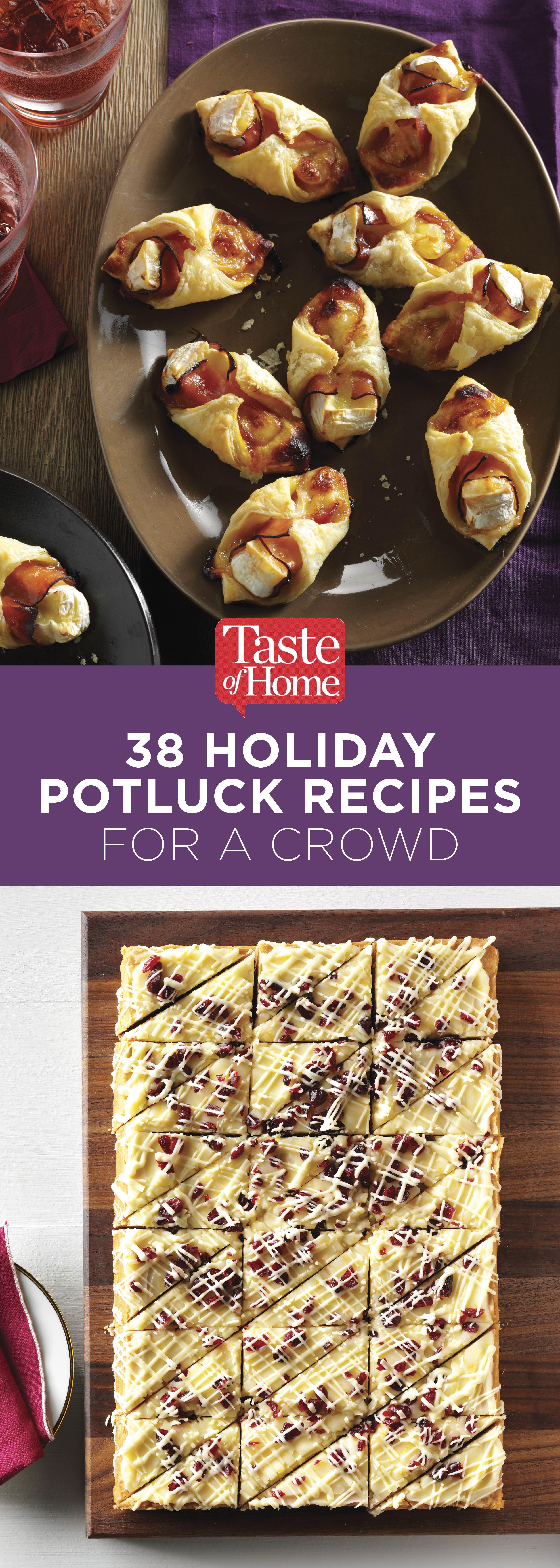 45 Holiday Potluck Recipes for a Crowd #potluckrecipes