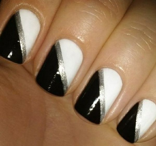 Schwarz Weiße Gelnägel Selber Machen 70 Gelnägel Muster Nägel