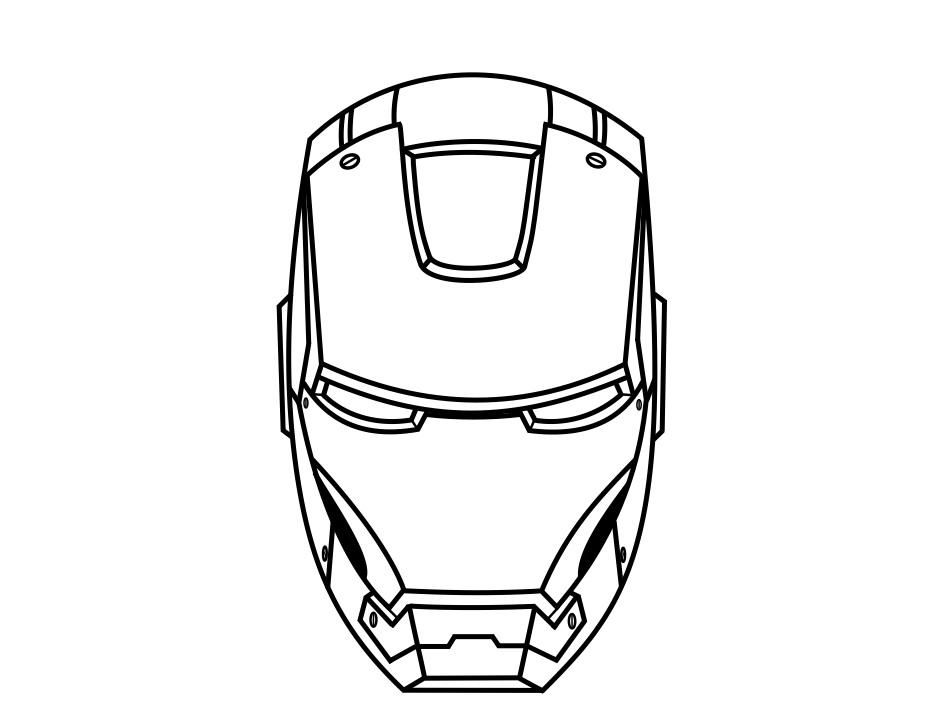 Iron Man Head Coloring Page Portraits