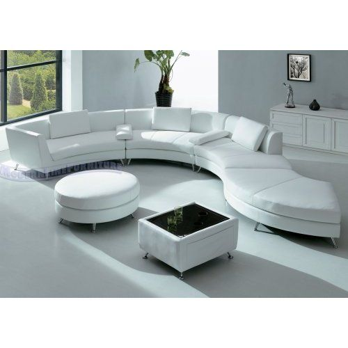 Best Amazon Com Modern Furniture White Leather Sectional Sofa With Ottoman And Mini Bar Table Set 400 x 300