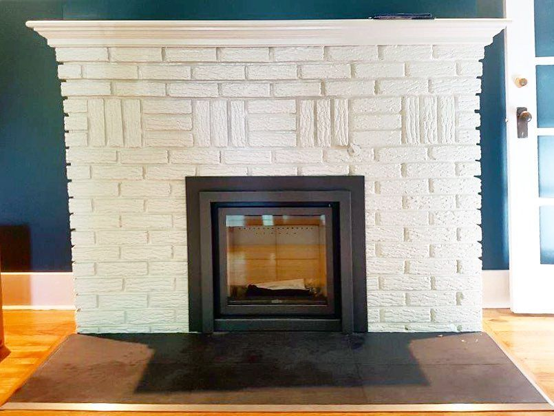 Our Recent Stuv 16 58 Insert Installation Into An Old Existing Masonry Fireplace Clean Line Inserts Showcasing The F Fireplace Gas Fireplace Masonry Fireplace