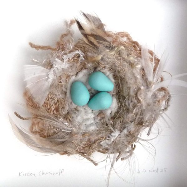 3 D Nest 25 Three Little Birds Nest Bird Ornaments