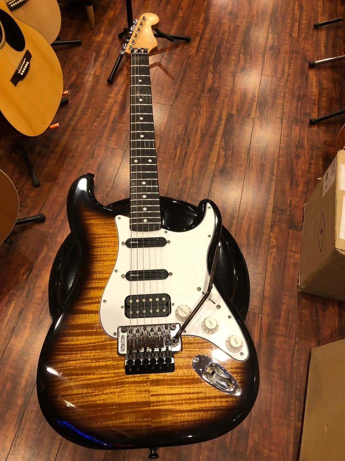Fender Mij Foto Flame Floyd Rose Stratocaster Music Is Life In