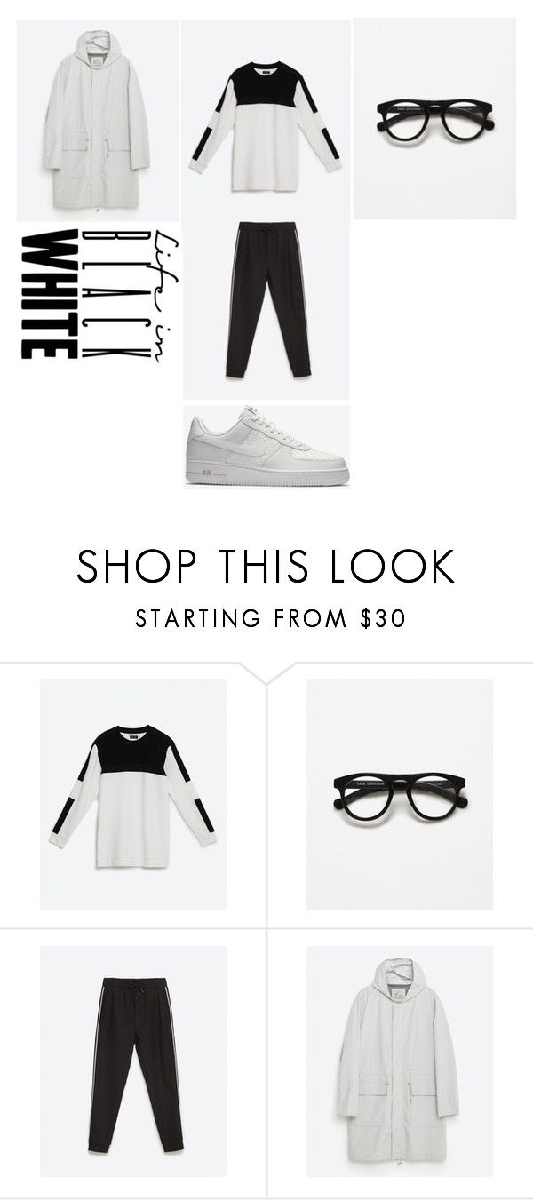 """""""ZARA is there"""" by menvogue ❤ liked on Polyvore featuring Zara, NIKE, men's fashion and menswear"""