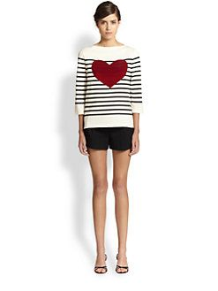 Marc Jacobs - Breton Stripe Heart Top