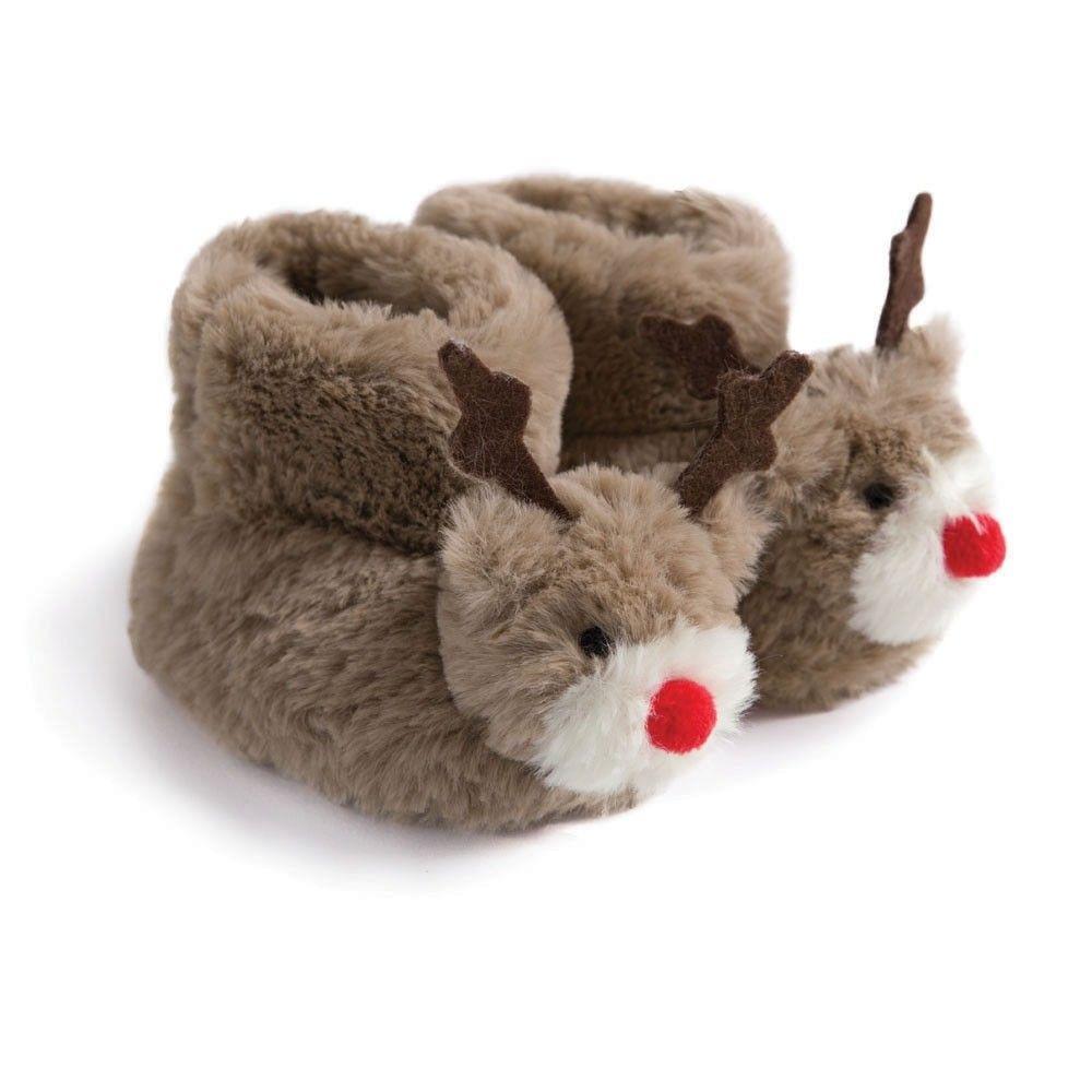 Kids\' Reindeer Slippers | JoJo Maman Bebe | Beautiful Boy | Pinterest
