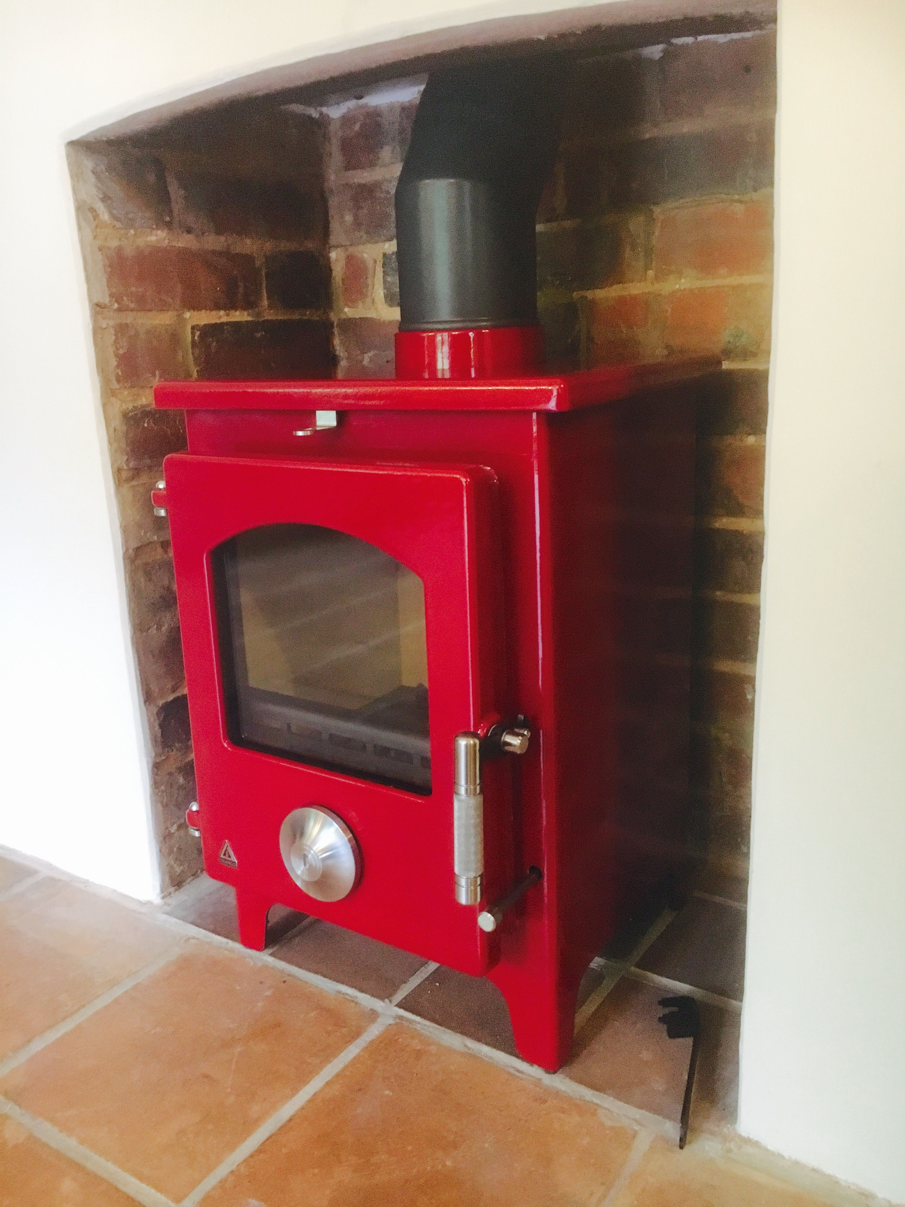 Awe Inspiring Amazing Deep Fiery Red Trianco Stove Installed By Phil In Interior Design Ideas Greaswefileorg