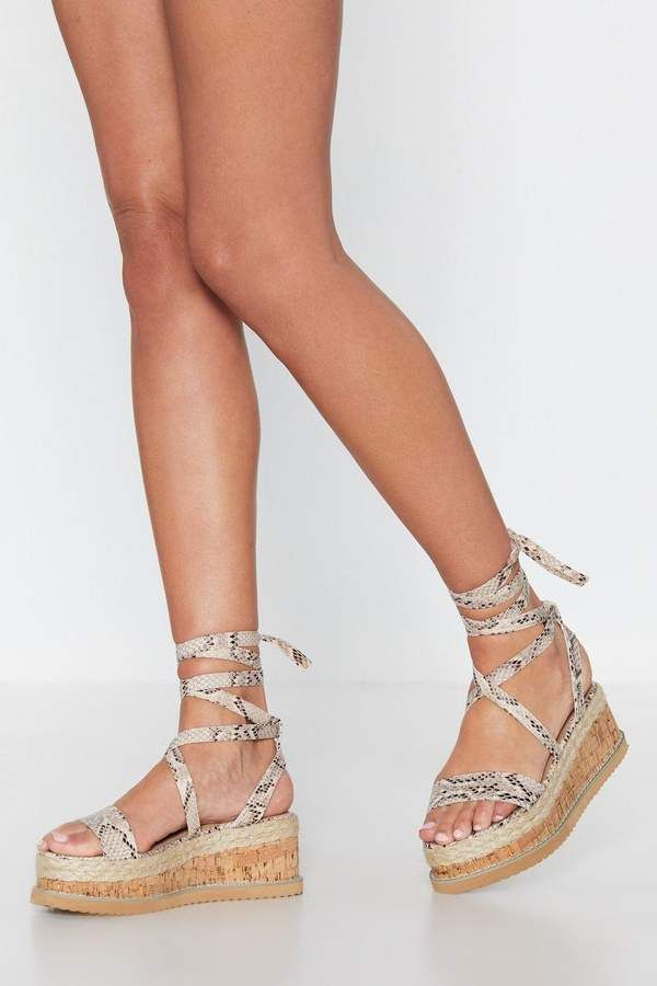 Hiss Me Quick Snake Platform Sandal | Shop Clothes at Nasty Gal! 1