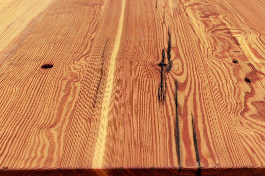 Reclaimed Heart Pine Kitchen Island Top