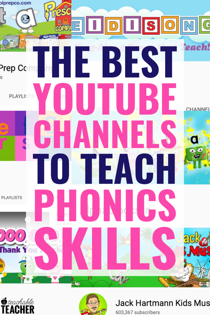 Phonics YouTube Channels I Absolutely LOVE (and my Students do, too!) is part of Phonics instruction, Teaching phonics, Phonics, Phonics reading, Phonics rules, Phonics reading passages - Here are the BEST phonics youtube channels for learning, reinforcing and practing reading skills we're learning in the classroom!