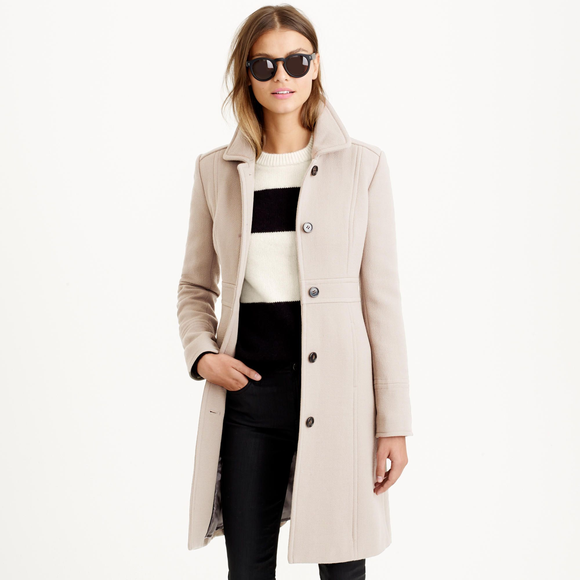 Double Cloth Lady Day Coat With Thinsulate Wool J Crew Style