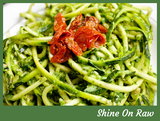 Raw food recipe raw pasta and pesto shine on raw raw food raw recipe pasta and pesto looking for some quick and easy raw food recipes love the raw food lifestyle but missing some favourites like pasta dishes forumfinder Gallery