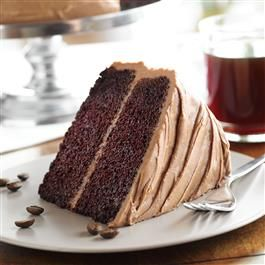 Mocha Chocolate Cake with Butter Mocha Frosting
