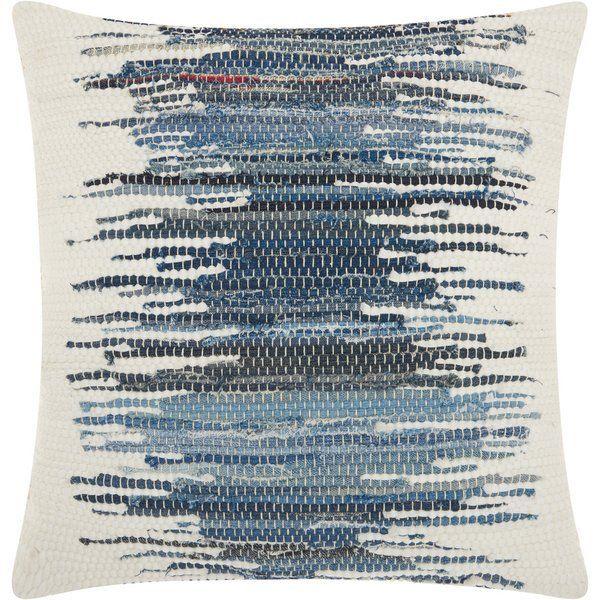 Bethzy Cotton Throw Pillow   Blue throw