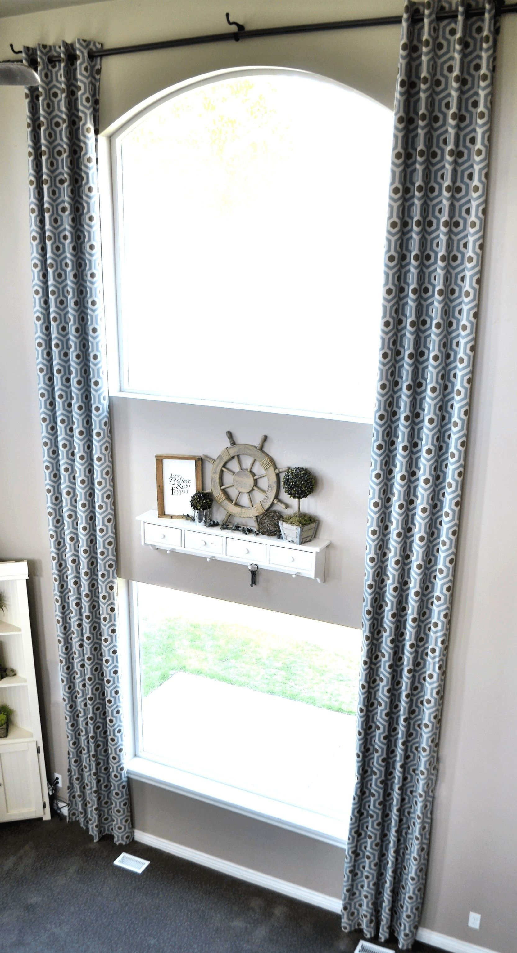 Curtains with Grommets. DIY 2 Story Curtains!