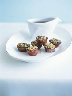 individual pancetta stuffing #party food #canape