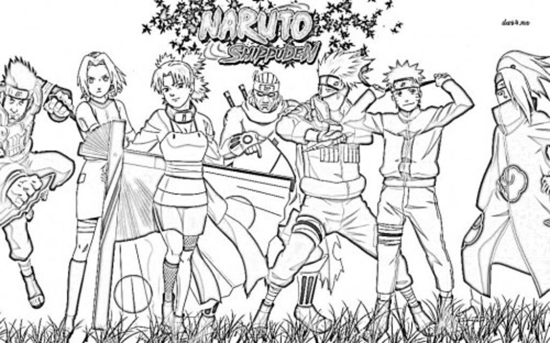 naruto shippuden coloring pages # 11