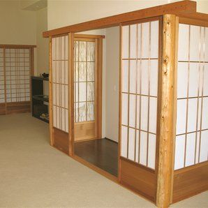 Ricepaper Japanese Shoji Screen, Sliding Screens by David Sipos