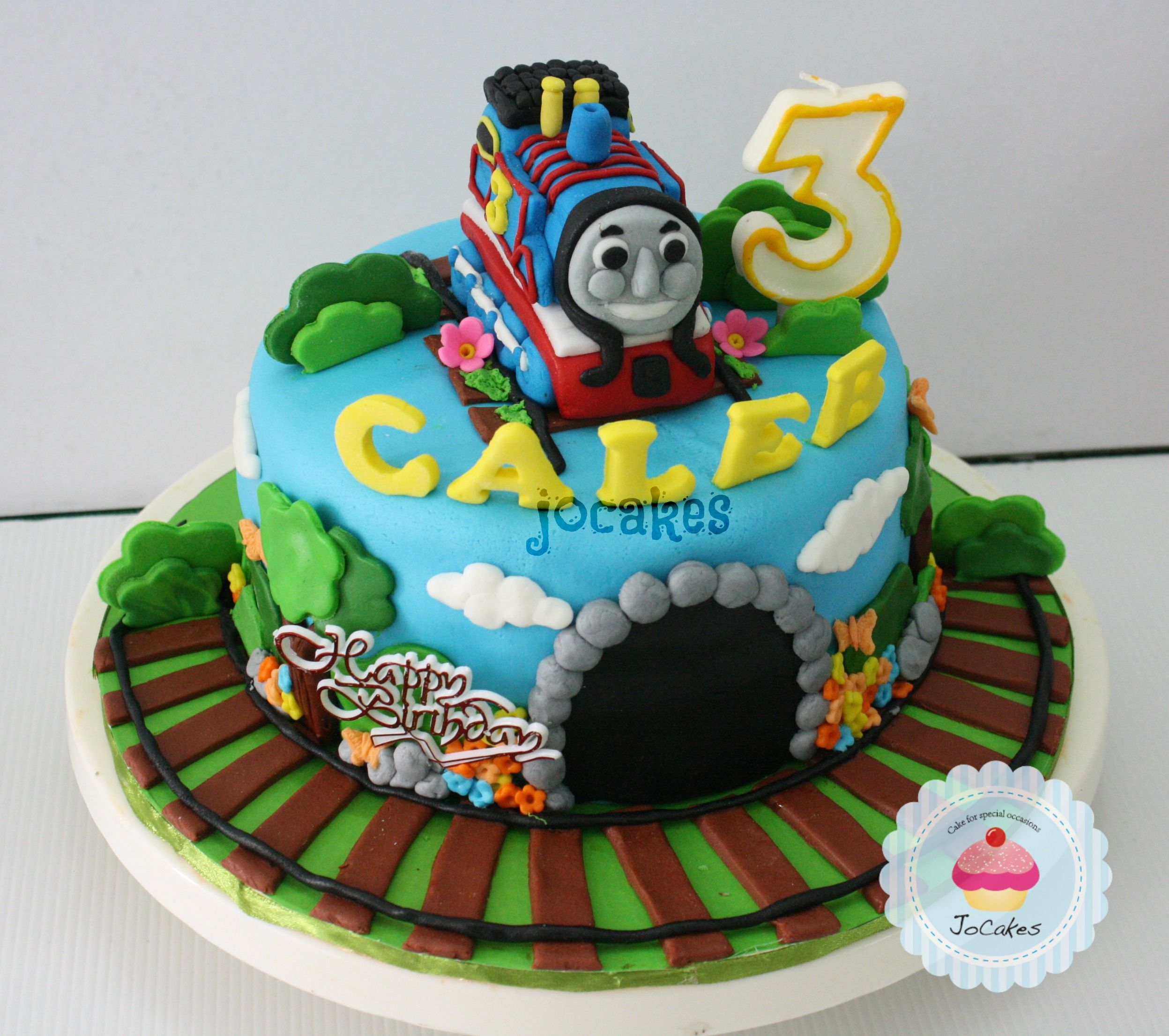 Thomas The Train Cake For Caleb Jocakes Party With
