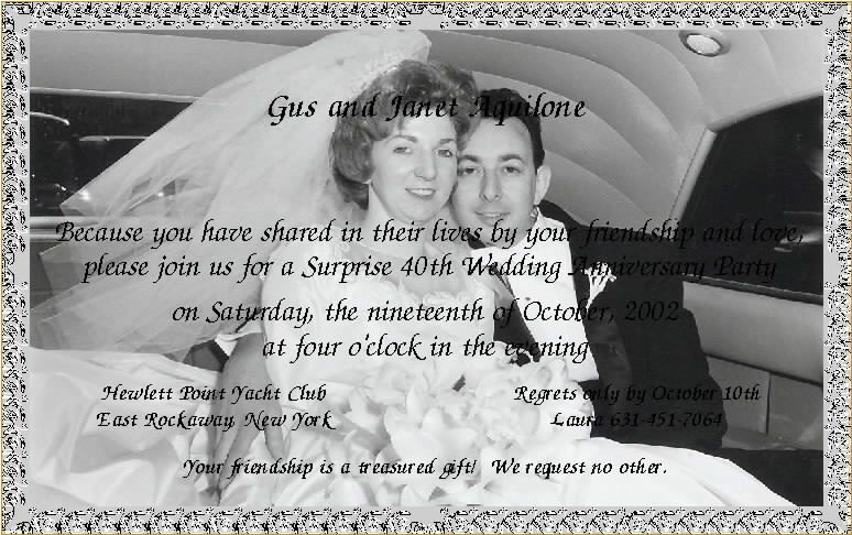 Th wedding anniversary invitation templates g mom and dad